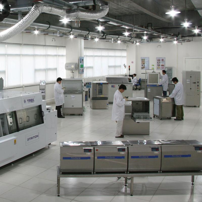 清洗设备测试中心